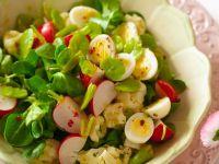 Salat mit Wachteleiern