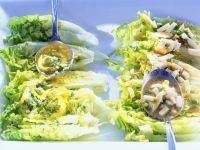Salatherzen mit Ei-Vinaigrette und Zitronenbutter Rezept