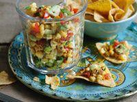 Salsa aus Mais, Avocado und Tomate Rezept
