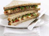Sandwich mit Flusskrebsen