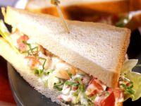 Sandwich mit Garnelensalat Rezept
