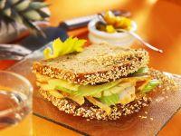Sandwich mit Hähnchen und Frucht Rezept