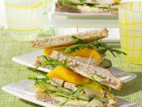 Sandwich mit Hähnchen und Mango Rezept