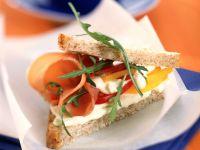 Sandwich mit Lachsschinken Rezept