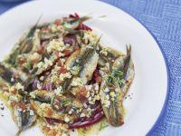 Sardellen mit Ei und Kräuter-Marinade Rezept