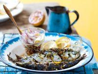 Sardinen vom Grill mit Linsen-Fenchel-Salat Rezept