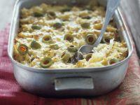 Sauerkraut-Oliven-Gratin