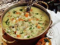 Saure Lamm-Gemüse-Suppe zu Ostern Rezept