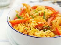 Scharfer Garnelen-Reis Rezept