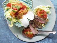 Scharfer Steaksalat Rezept
