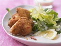 Scharfes Zitronen-Backhähnchen mit Salat Rezept