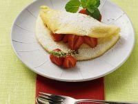 Schaumomelett mit Erdbeeren Rezept