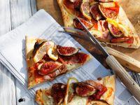 Schinken-Feigen-Pizza Rezept