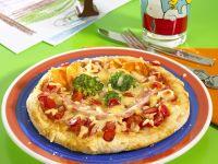 Schinken-Gemüse-Pizza Rezept