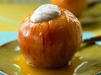 Schlanker Bratpfel mit Zimtquark Rezept