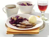 Schmorbraten mit Trauben-Rotkohl Rezept