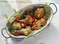 Schmorkaninchen mit Tomaten und Kräutern Rezept
