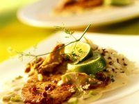 Schnitzel mit Limettensauce