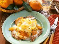 Schnitzel mit Mandarinensauce Rezept