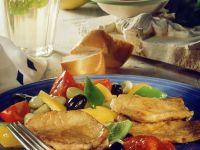 Schnitzel mit mediterranem Gemüse Rezept
