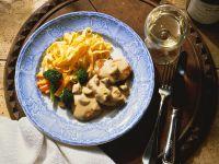 Schnitzel mit Pilzrahmsoße Rezept