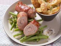 Schnitzelrouladen mit Kartoffel-Wedges