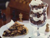 Schoko-Haferflocken-Speise und schottische Tarte