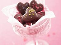 Schoko-Marzipan-Herzen Rezept