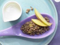 Schoko-Milchreis mit Pfirsich Rezept