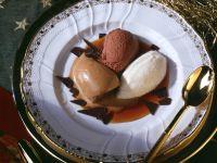 Schoko- Mokka- und Vanilleparfait Rezept