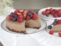 Gesunde Schokoladen-Mousse-Torte