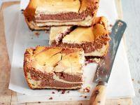 Schokoladen-Käsekuchen-Schnitten Rezept