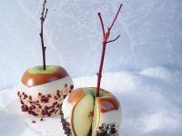 Schokoladen-Karamell-Äpfel Rezept