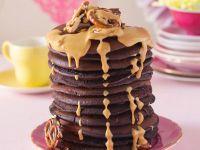 Schokoladenpfannkuchen mit Erdnussbutter Rezept