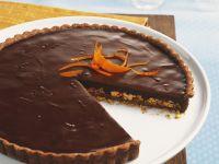 Schokoladentarte mit Orange und Mandel Rezept