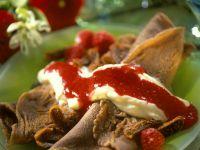 Schokopfannkuchen mit Vanillecreme Rezept
