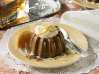Schokopudding mit Mandeln und Orangencreme Rezept
