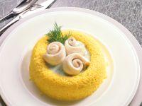 Schollenröllchen im Safran-Reisrand Rezept