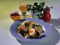 Schottische Eier mit Stampfkartoffeln Rezept