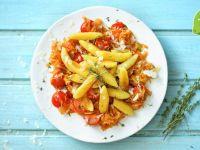 Schupfnudeln auf super-tomatigem Sauerkraut im Thermomix Rezept