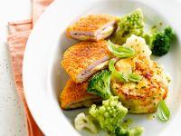 Schweine-Cordon-Bleu mit Gratin und Gemüsebeilage Rezept
