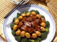Schweinebauch mit Esskastanien Rezept