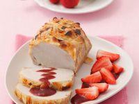 Schweinebraten mit Balsamico-Erdbeer-Soße Rezept