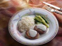 Schweinefilet mit Cremesauce und Reis Rezept