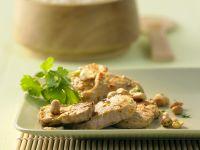 Schweinefilet mit Gelbwurz-Erdnuss-Paste Rezept