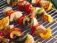 Schweinefleisch-Gemüsespieße vom Grill Rezept