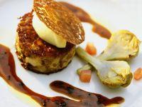 Schweinefuß-Omelette mit Trüffelsauce