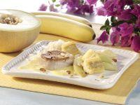 Schweinemedaillons mit gebratener Banane und Melone Rezept