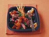 Schweinemedaillons vom Grill mit Gemüse und Orangen Rezept