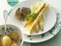 Schweinemedallions mit gratiniertem Spargel und Kartoffeln Rezept